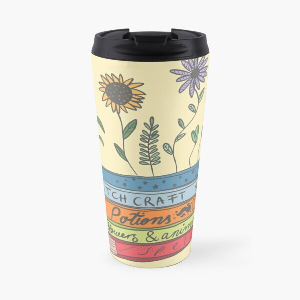 Witchy Books with Flowers Travel Mug