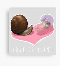 Snail Love is Blind Canvas Print