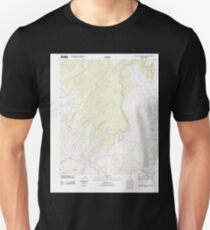 USGS TOPO Map Arizona AZ Big Willow Spring Canyon 20111028 TM Unisex T-Shirt
