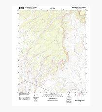 USGS TOPO Map Arizona AZ Big Willow Spring Canyon 20111028 TM Photographic Print