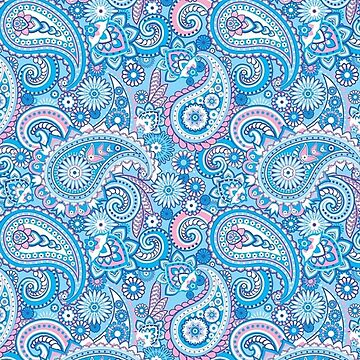 Pink and Blue Mandala Design by naamaparamore