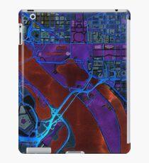 Dunkle Karte des Washingtoner Stadtzentrums iPad-Hülle & Klebefolie