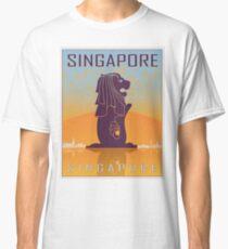 Singapore vintage poster Classic T-Shirt