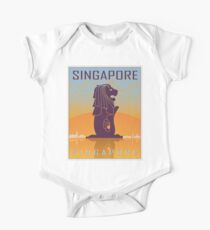 Singapore vintage poster One Piece - Short Sleeve