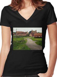 Wellow,  a Quiet Corner. Women's Fitted V-Neck T-Shirt