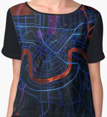 Dark map of New Orleans Chiffon Top