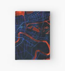 Dark map of New Orleans Hardcover Journal