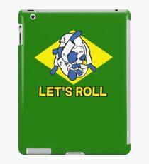 Brazilian jiu-jitsu (BJJ) Let's roll iPad Case/Skin