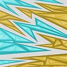 Voxel Triangles - CS:GO Skin (Yellow-Cyan) by Zurex