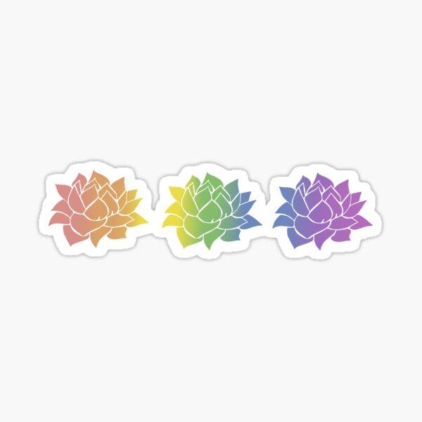 Rainbow LGBTQ Pride Succulents Sticker