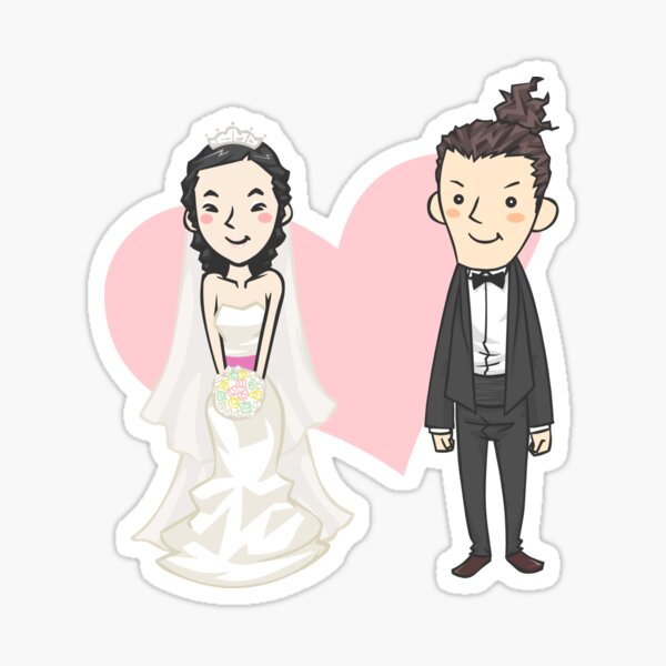 Happy Wedding Sticker