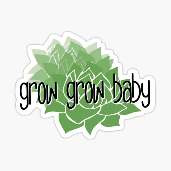 Grow Grow Baby Sticker