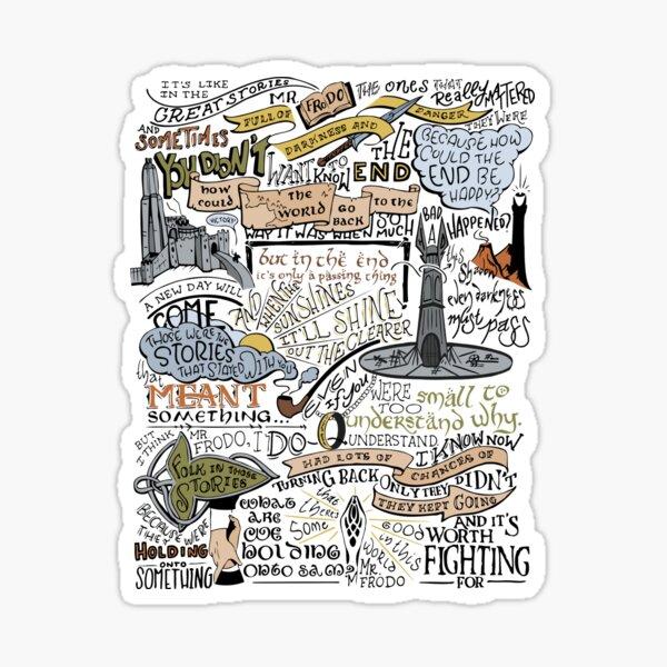 Sams Rede (koloriert) Sticker
