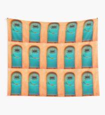 Vintage blue door Wall Tapestry