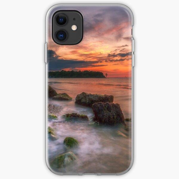 Rocky Beach Sunset iPhone Soft Case