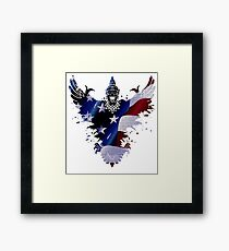The Art Painting Of US Flags Framed Print