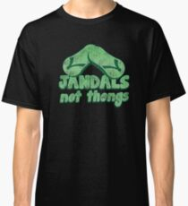 JANDALS not thongs with funny New Zealand distressed version Classic T-Shirt