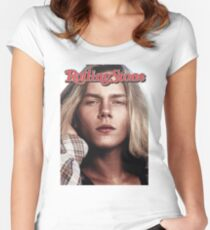 River Phoenix (Rolling Stone Magazine) Women's Fitted Scoop T-Shirt