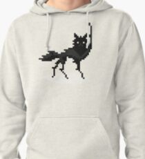Canis lupus (pixel art) Pullover Hoodie