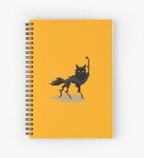 Canis lupus (pixel art) Spiral Notebook