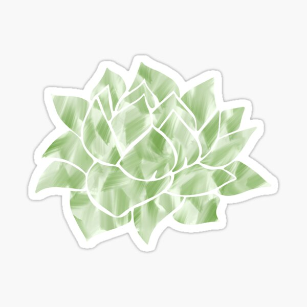 Watercolor Succulent Sticker