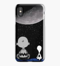 snoopy and charlie night sky iPhone Case/Skin