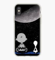 snoopy and charlie night sky iPhone Case