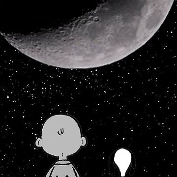 snoopy and charlie night sky by cellorart