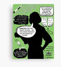 Malory Archer — Quotes Canvas Print