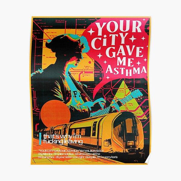 deine stadt hat mir asthma gegeben - wilbur ruß Poster