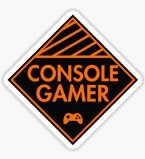 Console Gamer (Orange) Sticker
