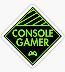 Console Gamer (Green) Sticker