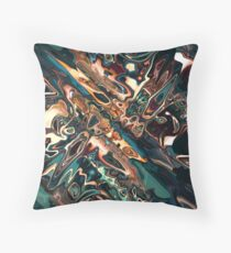 Melting Copper Abstract  Throw Pillow