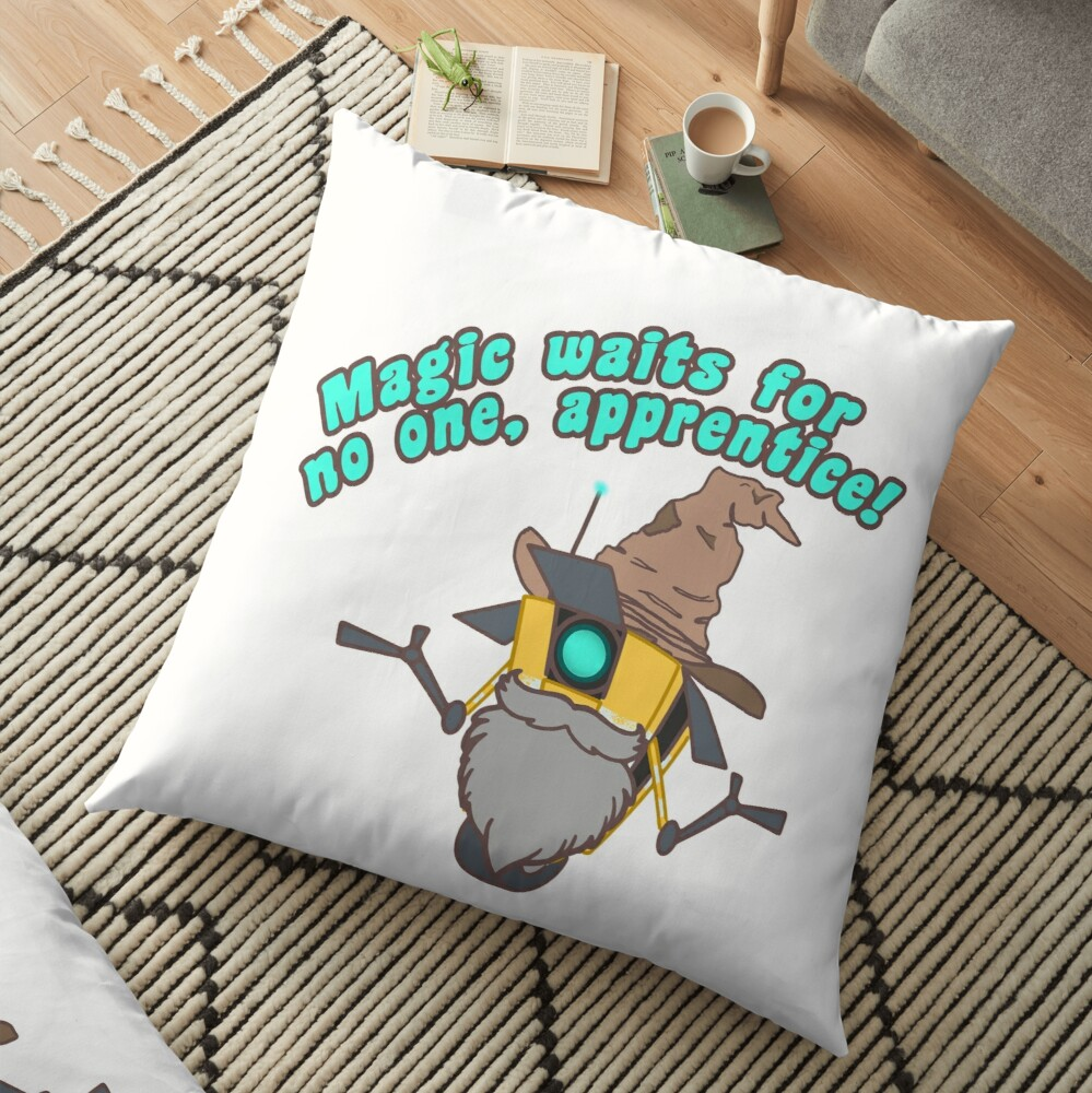 Magic waits for no one, apprenctice Floor Pillow