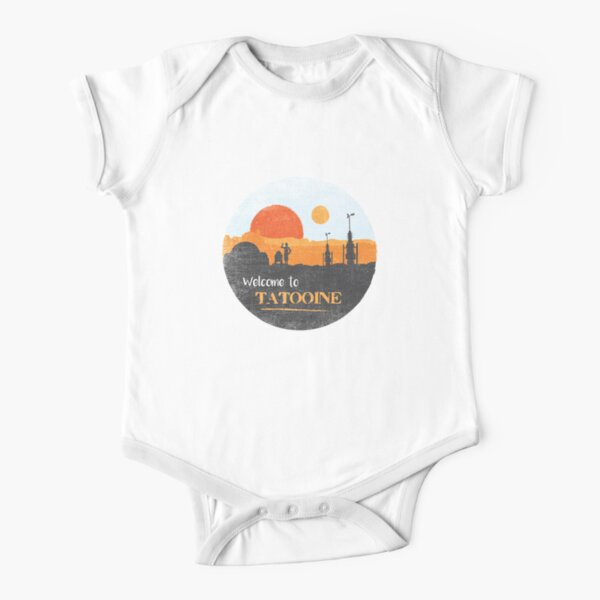 Welcome to Tatooine Short Sleeve Baby One-Piece