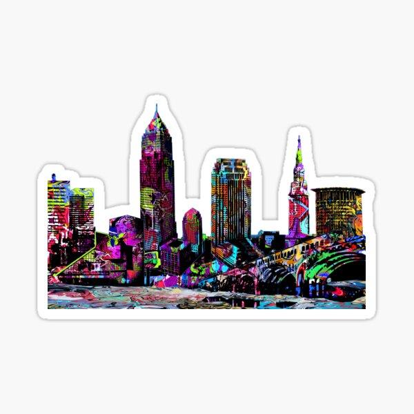 Cleveland in graffiti Sticker