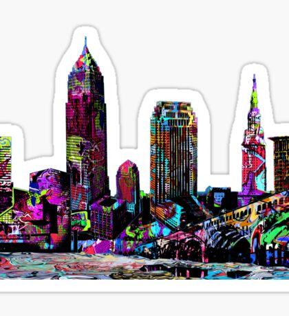 Cleveland graffiti Sticker