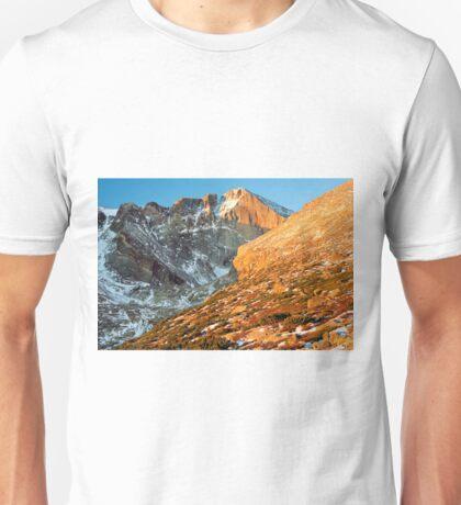 First Light at Longs Peak Unisex T-Shirt
