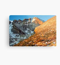 First Light at Longs Peak Metal Print