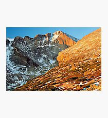 First Light at Longs Peak Photographic Print