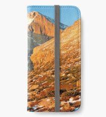 First Light at Longs Peak iPhone Wallet/Case/Skin