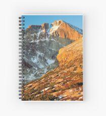 First Light at Longs Peak Spiral Notebook