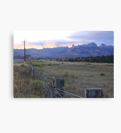 The Fields, the Sky Canvas Print
