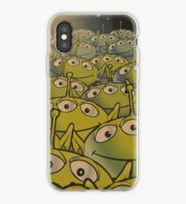 Little Green Men Friendly 3 Eyed Aliens  iPhone Case