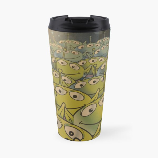 Little Green Men Friendly 3 Eyed Aliens  Travel Mug