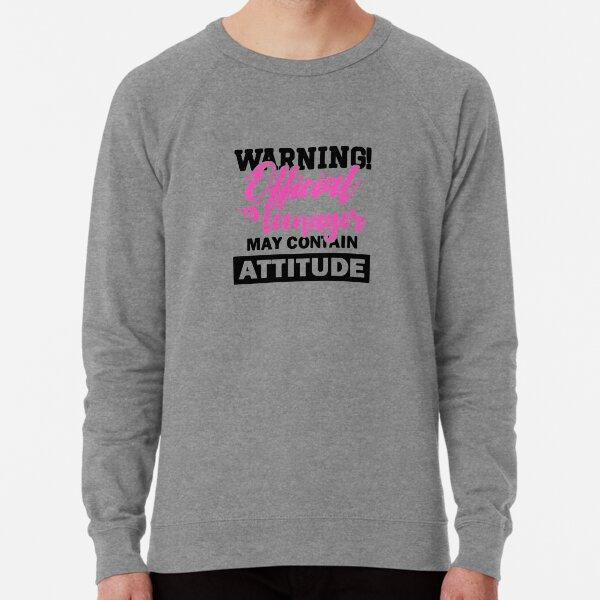 Warning Official Teenager Lightweight Sweatshirt