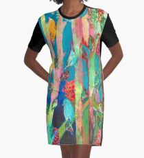 Forest of Birds Graphic T-Shirt Dress