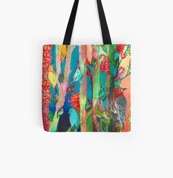 Forest of Birds All Over Print Tote Bag