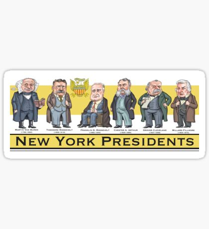 U.S. Presidents from New York State Sticker