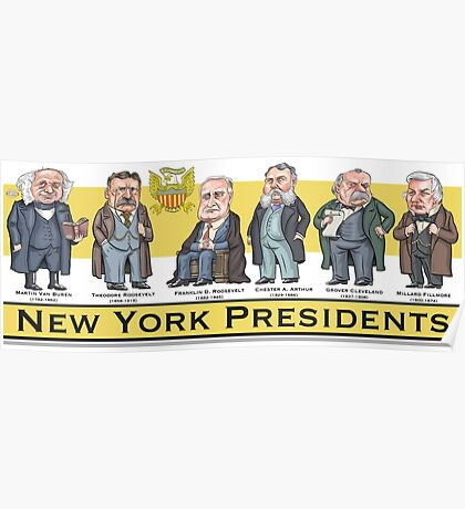 U.S. Presidents from New York State Poster